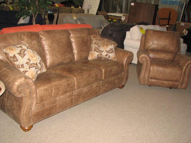 traditional ashley sofa and chair