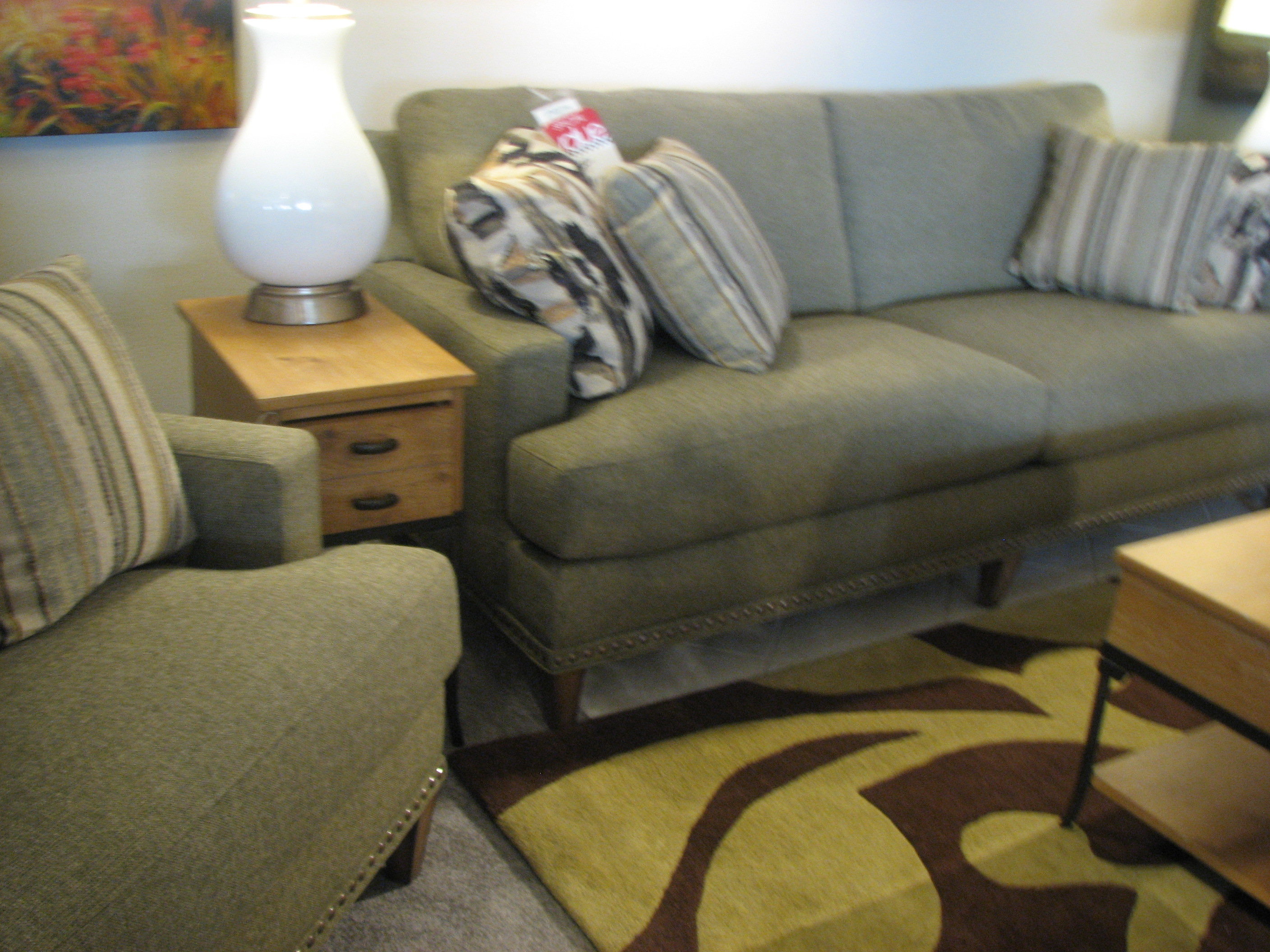 Flexsteel Sofa with Nailhead Trim