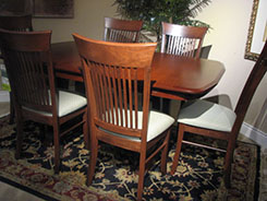 CountryView Dining Table with Upholstered Seats by Wengerd