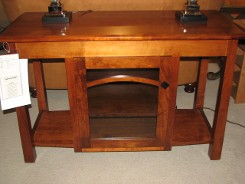 Weaver's Contemporary Amish Brown Maple TV Console