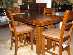 Counter Height Table and Chairs with Upholstered Seats by Ashley
