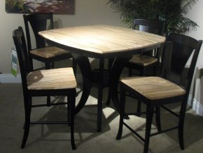 Countryview and Wengerd Amish Made Two-Wood Dining Set