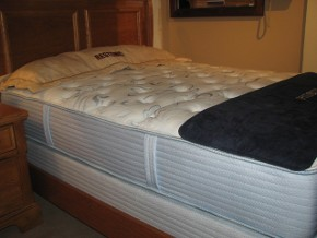 Two-sided Restonic Great Lakes Mattress and Foundation