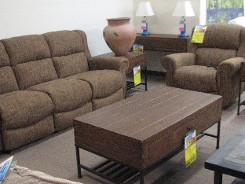 Reclining Best Sofa and Matching Chair with Clearance Table Groups