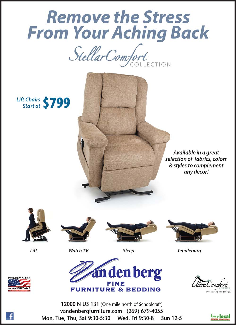 Lift Chairs Starting at $799