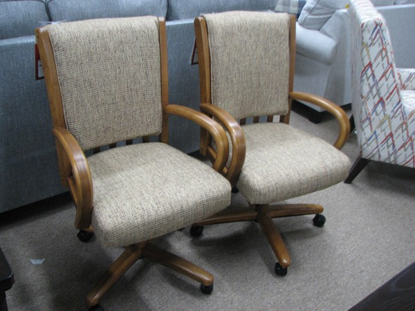 Two Chromecraft Castered Chairs