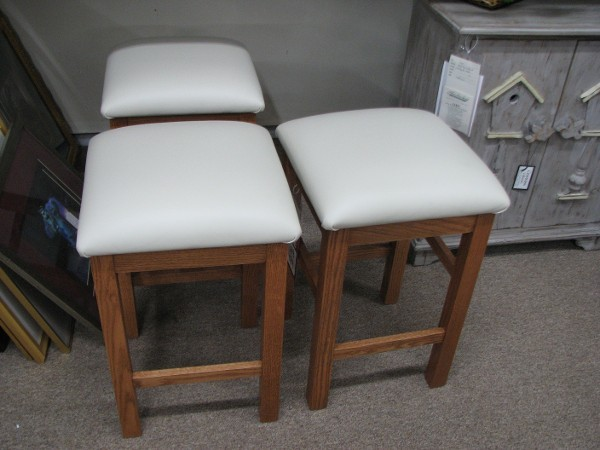 Amish Counter Stools with Leather Seats