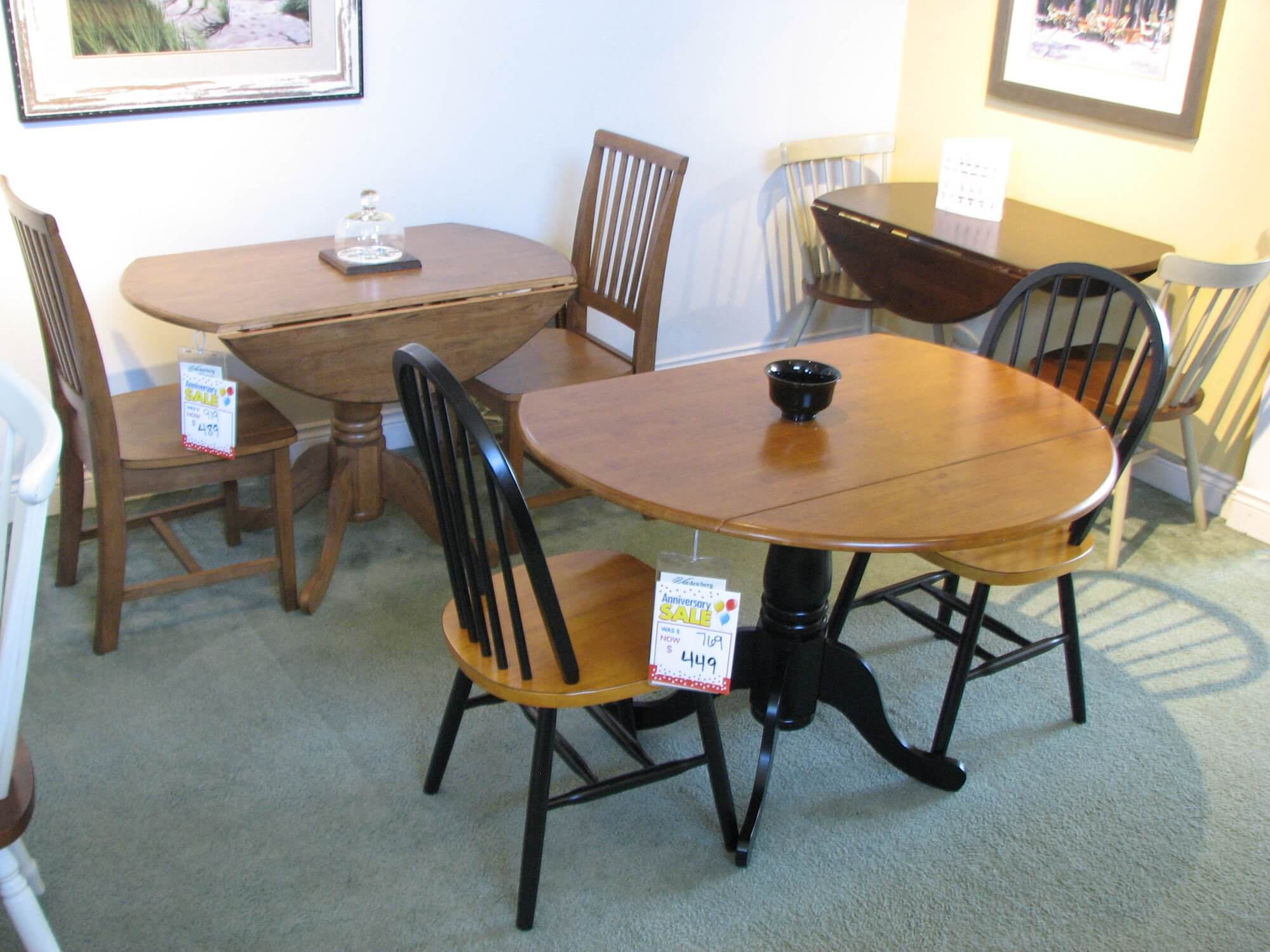 A Selection of John Thomas Apartment Size Tables
