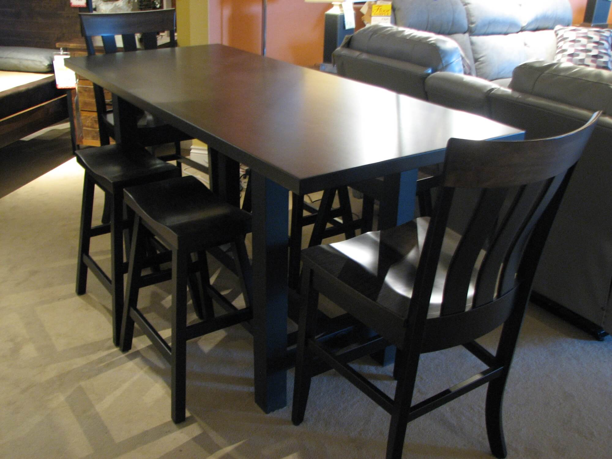Superior Pub Dining Set with Two Pub Chairs and Four Pub Stools