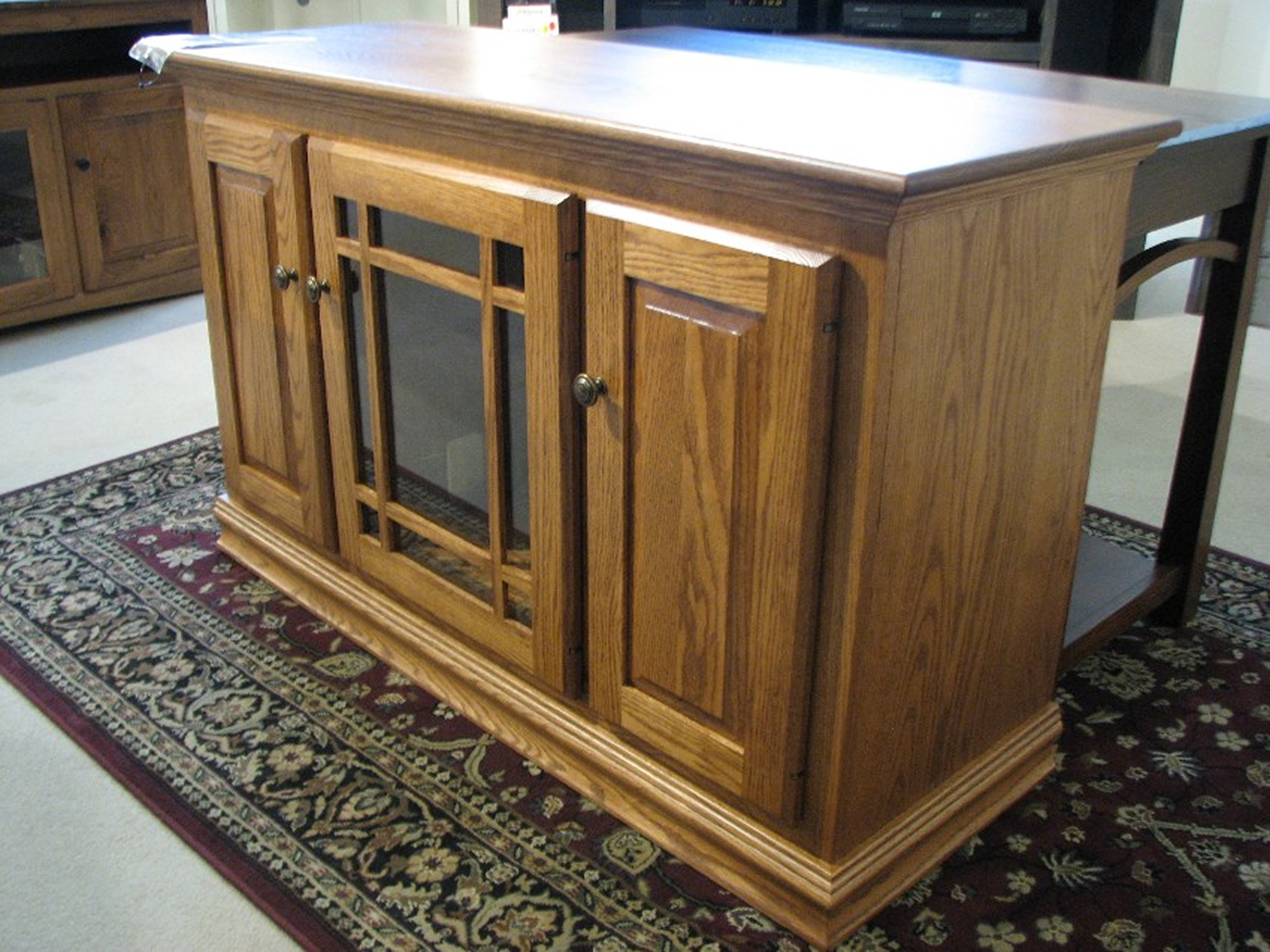 Amish - Ashery Red Oak Entertainment Center