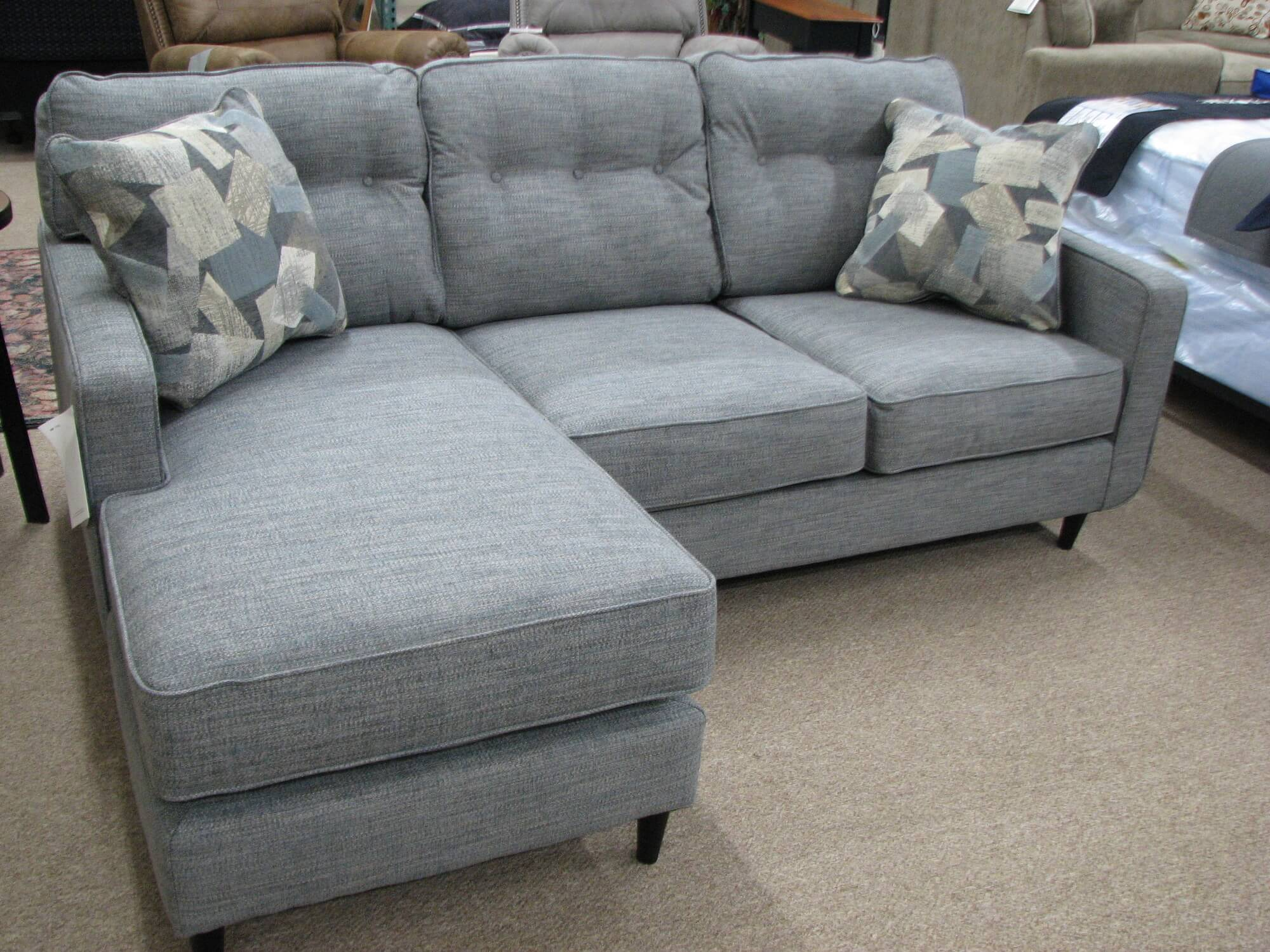 Blue Ashley Sofa with Chaise