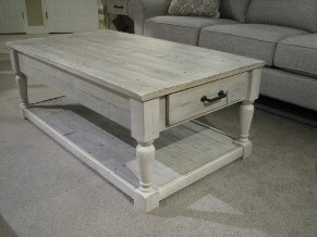 Ashley Rustic Reclaimed Wood Cocktail Table